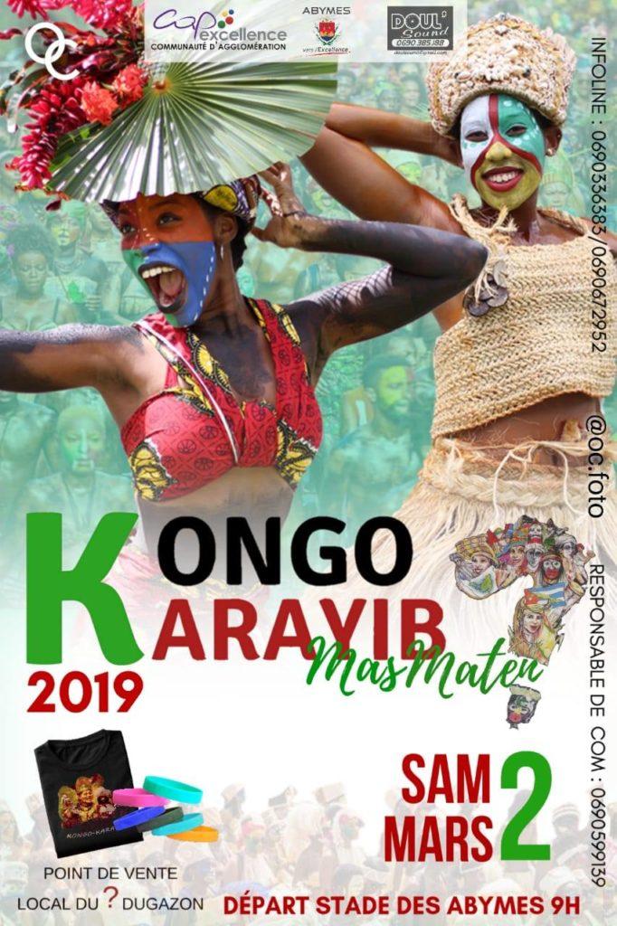 Affiche publicitaire du Kongo Karayib Mas Maten 2019