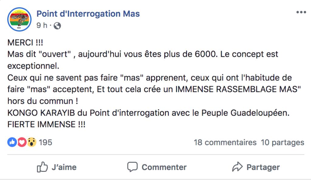 Page Facebook du Point d'Interrogation.